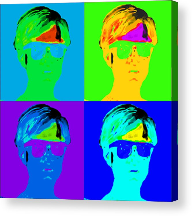 Pop Portrait Acrylic Print featuring the digital art Andy Is Art by Paul Knotter