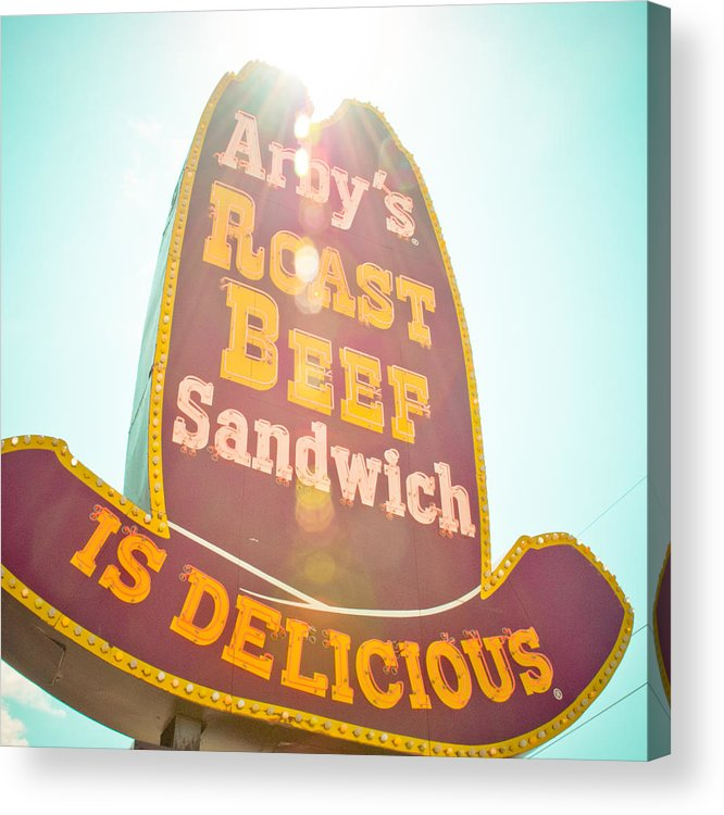 Oklahoma Acrylic Print featuring the photograph Arby's by David Waldo