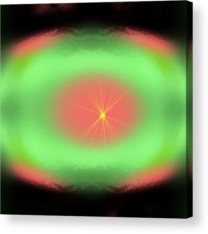 Beginning.darkness.nothing.the Big Explosion.force.energy.birth.the Generation In All. Creation.   Acrylic Print featuring the digital art Beginning... by Dr Loifer Vladimir