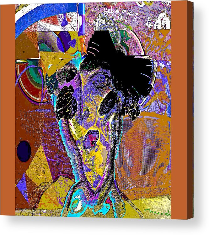 Grafiti Acrylic Print featuring the painting Black Butterfly by Noredin Morgan