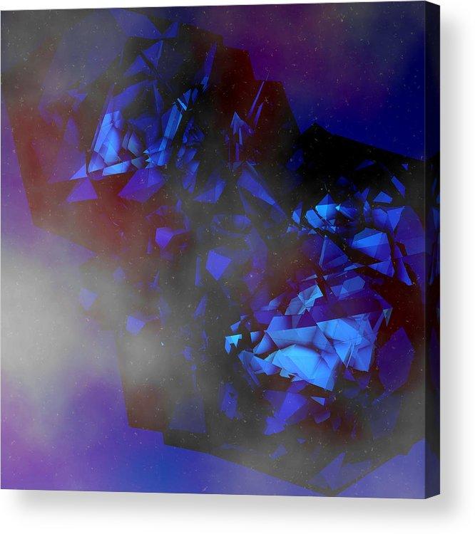 Art Acrylic Print featuring the digital art Black Hole by Dimitris Christou