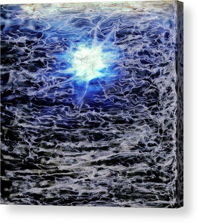 Paul Tokarski Acrylic Print featuring the photograph Blue Moon by Paul Tokarski