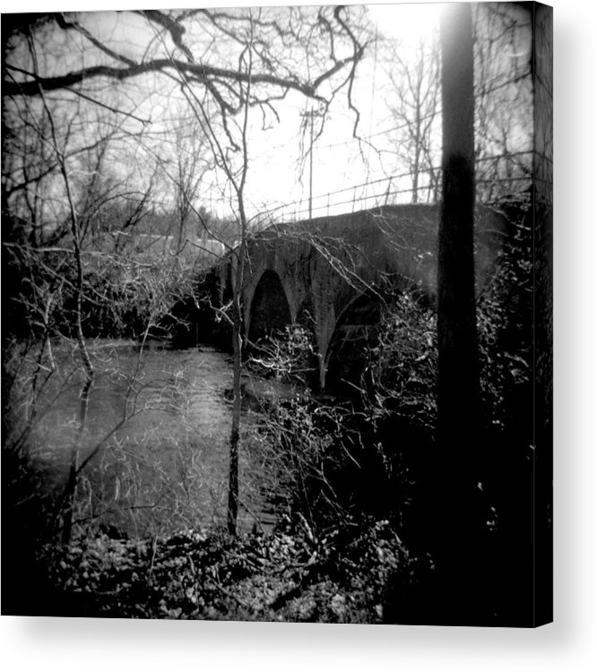 Photograph Acrylic Print featuring the photograph Boiling Springs Bridge by Jean Macaluso