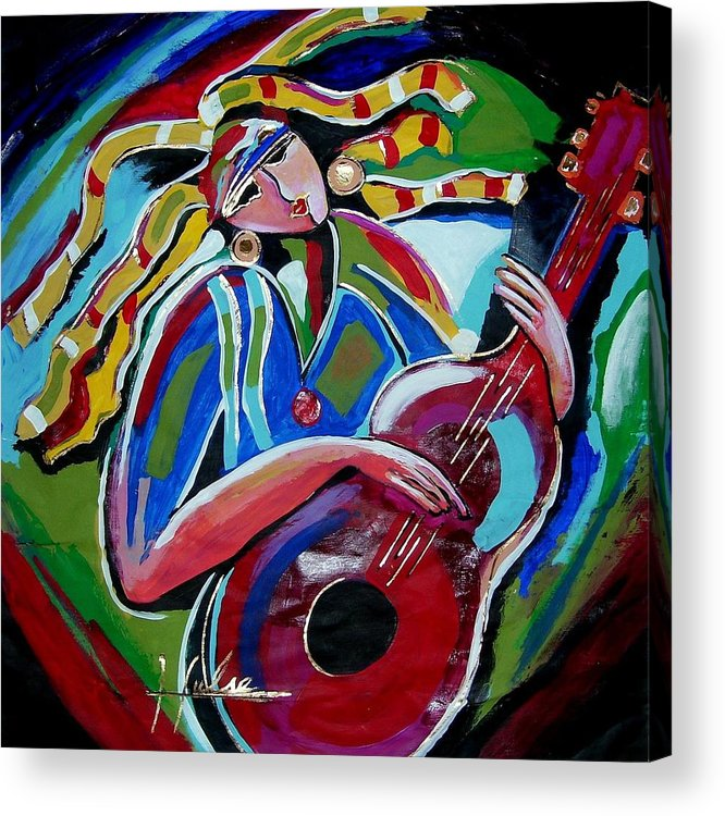 Music Acrylic Print featuring the painting Breezy by Gina Hulse