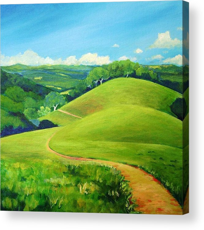Landscape Acrylic Print featuring the painting Canada Del Oro Ridge by Stephanie Maclean