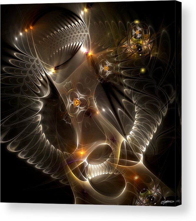 Abstract Acrylic Print featuring the digital art Cenogenesis by Casey Kotas
