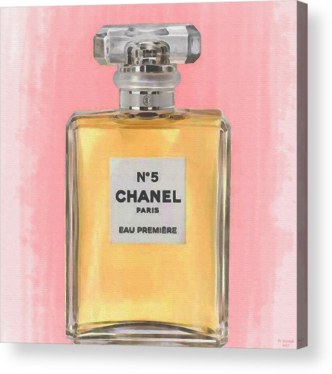 Chanel No 5 Eau De Parfum Acrylic Print By David Stasiak