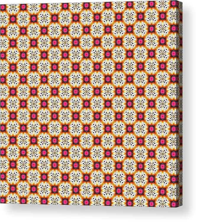 Cute Acrylic Print featuring the tapestry - textile Chic Seamless Tile Pattern by Bimbys Collections