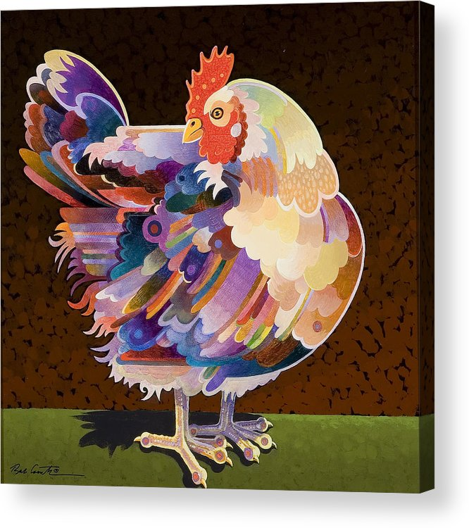 Chicken Acrylic Print featuring the painting Chicken From Jamestown by Bob Coonts