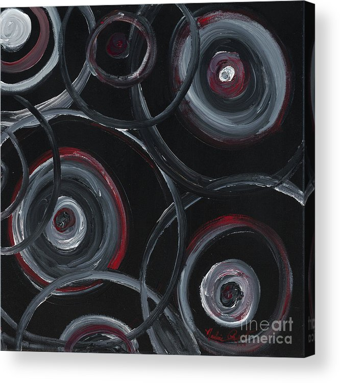 Circles Acrylic Print featuring the painting Choices In Black by Nadine Rippelmeyer