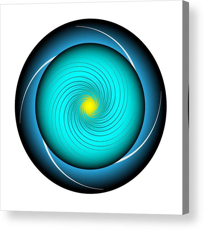 Multi-colored Acrylic Print featuring the digital art Circle Study No. 339 by Alan Bennington