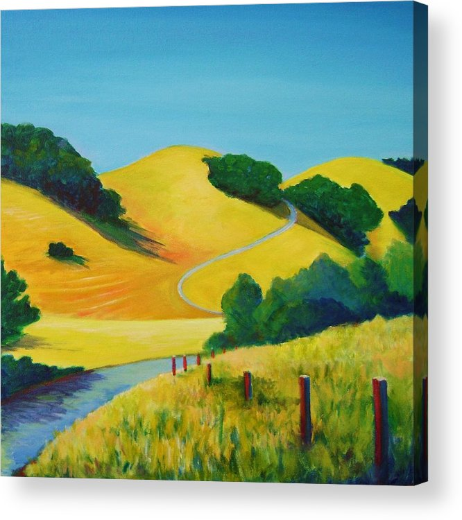 Landscapes Acrylic Print featuring the painting Clear Fall Day At Briones by Stephanie Maclean