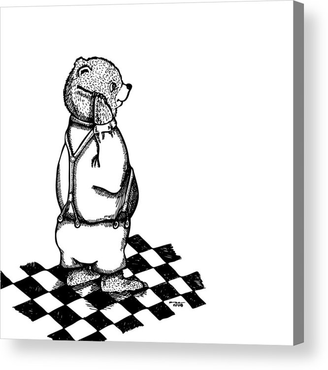 Drawing Acrylic Print featuring the drawing Comb Bear by Karl Addison