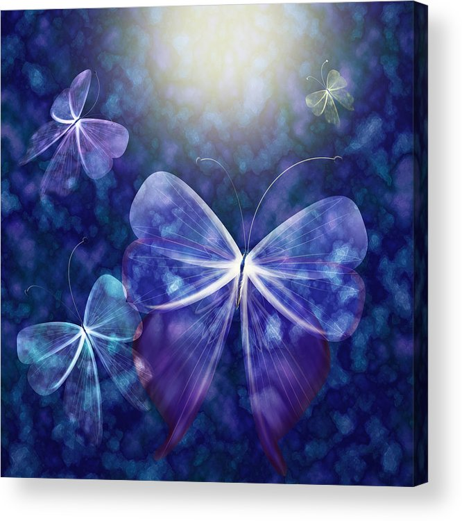 Butterfly Acrylic Print featuring the digital art Come Into The Light by Gae Helton