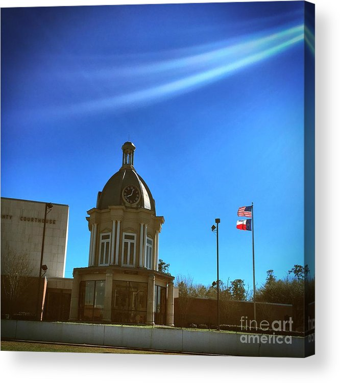 American Acrylic Print featuring the photograph Courthouse And Flags by John W Smith III