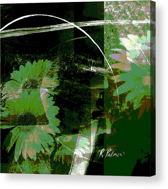 Abstract Acrylic Print featuring the mixed media Daisy Chain by Ruth Palmer
