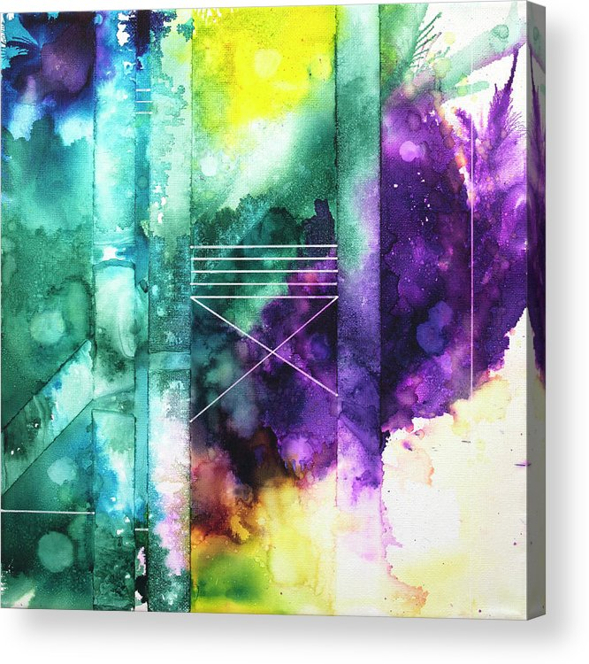 Abstract Acrylic Print featuring the painting Destiny Doesn't Do Home Visits by Nelson Ruger