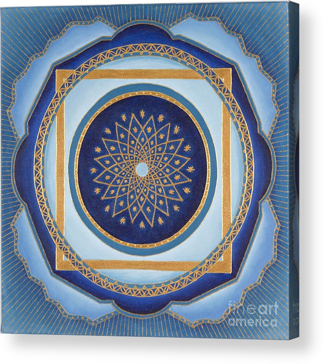 Mandala Acrylic Print featuring the painting Divine Feminine - Cathedral Series by Charlotte Backman