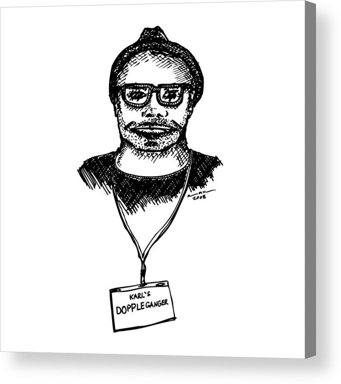 Drawing Acrylic Print featuring the drawing Doppleganger by Karl Addison