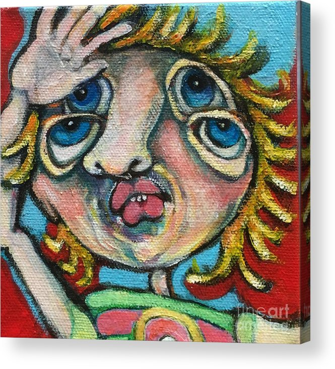 Ircle Head Art Acrylic Print featuring the painting Double Vision by Michelle Spiziri