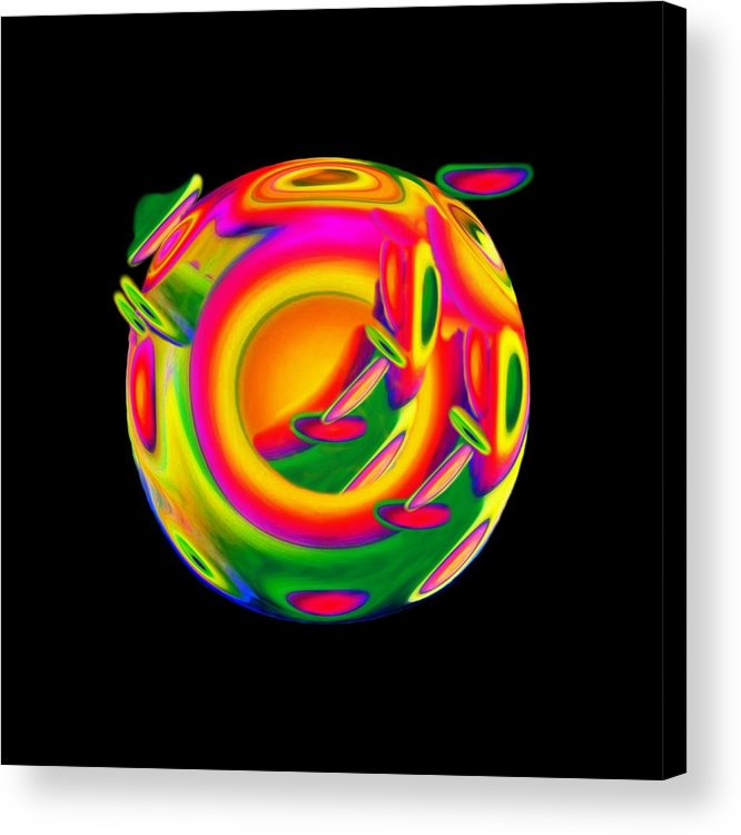 Sphere Acrylic Print featuring the mixed media Dreaming by Jacqueline Migell