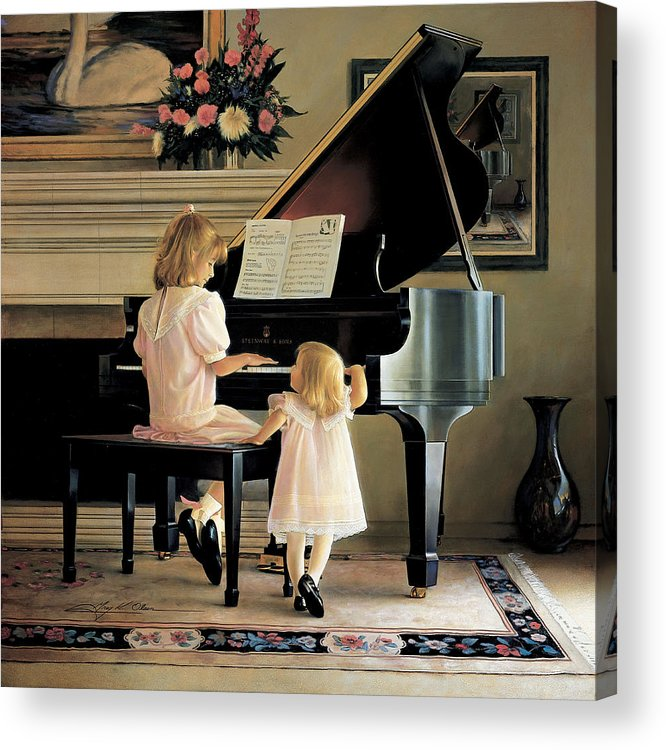 Piano Acrylic Print featuring the painting Dress Rehearsal by Greg Olsen