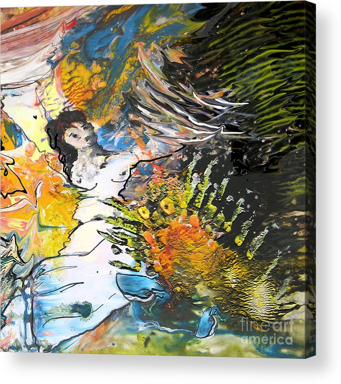 Miki Acrylic Print featuring the painting Erotype 07 2 by Miki De Goodaboom