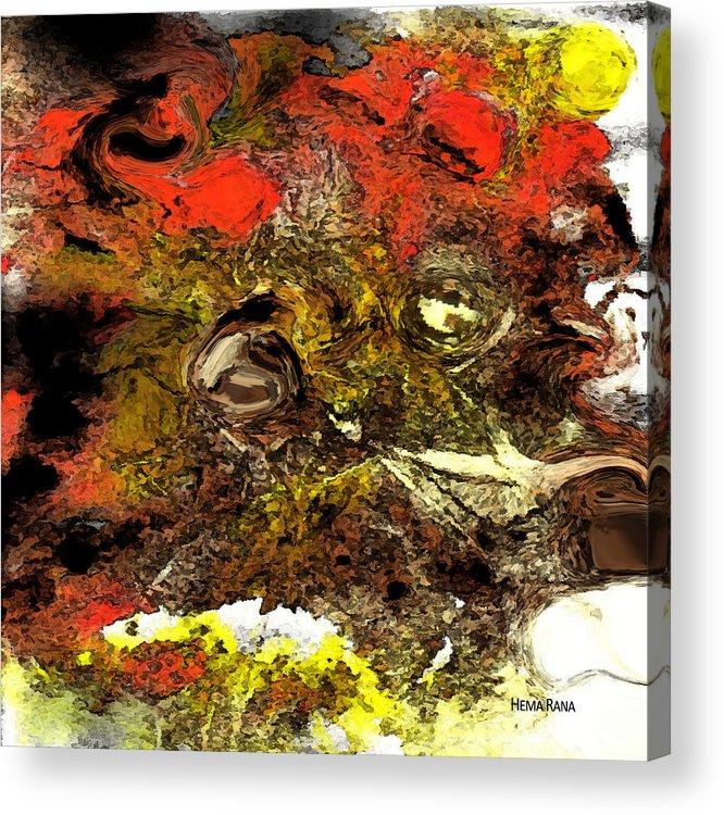 Digital Art Acrylic Print featuring the digital art Exotic Creature by Hema Rana