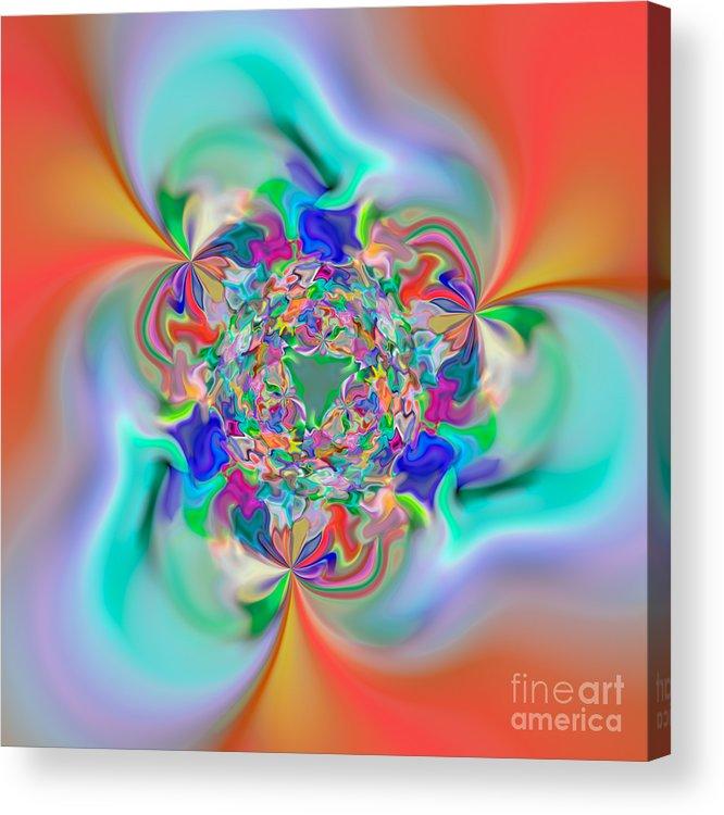 Abstract Acrylic Print featuring the digital art Flexibility 32e by Rolf Bertram