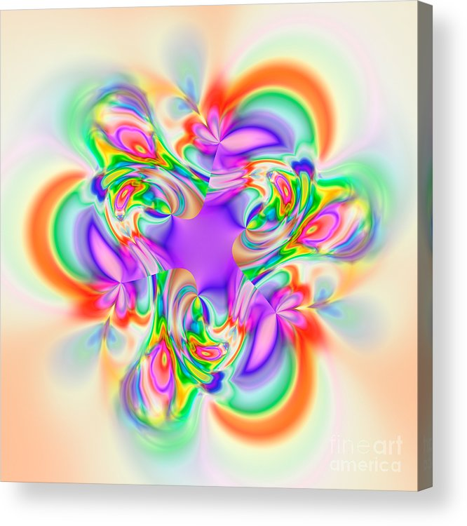 Abstract Acrylic Print featuring the digital art Flexibility 39b1b by Rolf Bertram