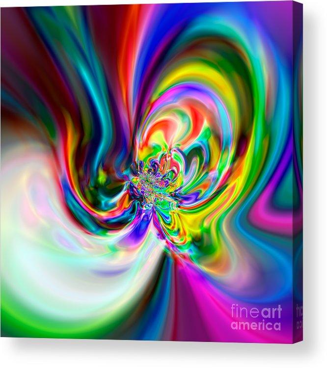 Abstract Acrylic Print featuring the digital art Flexibility 51ba by Rolf Bertram