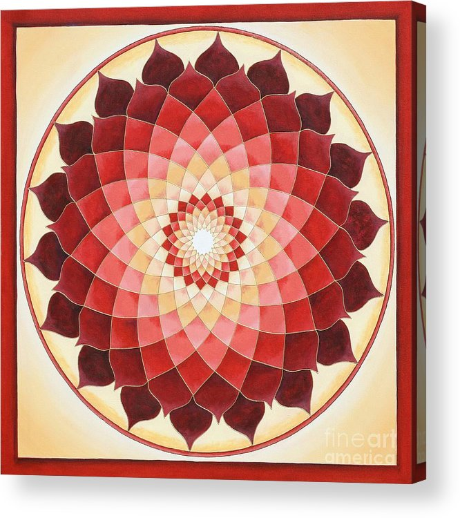Mandala Acrylic Print featuring the painting Flower Of Life by Charlotte Backman