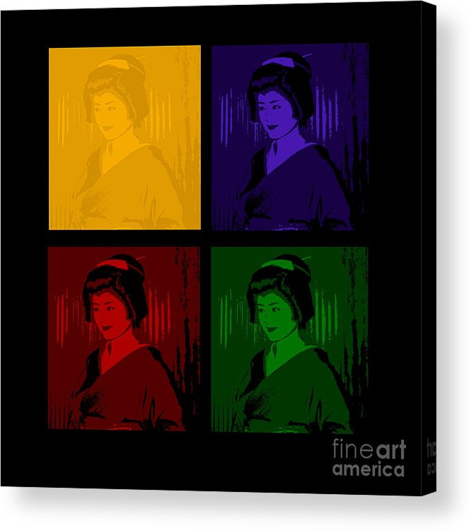 Geisha Acrylic Print featuring the photograph Geishas by Louise Fahy