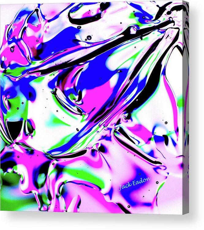 Purple Acrylic Print featuring the photograph Gel Art#18 by Jack Eadon