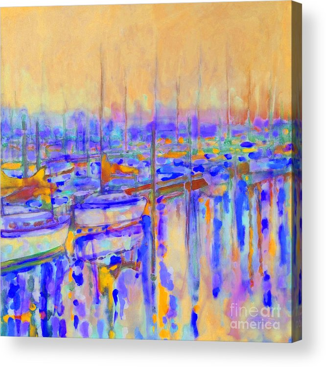 Harbor Acrylic Print featuring the painting Harbor Sunrise I   Six Am by Kip Decker