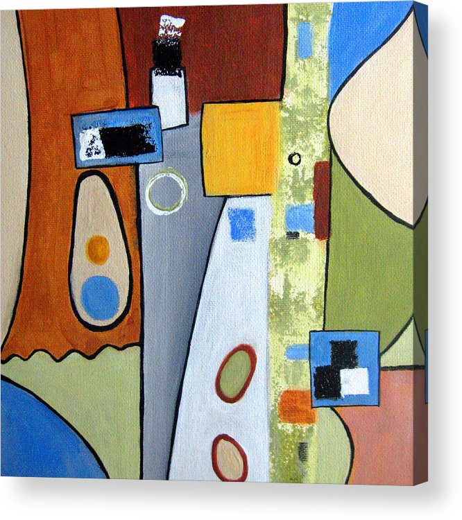 Abstract Acrylic Print featuring the painting Headspin II by Ruth Palmer