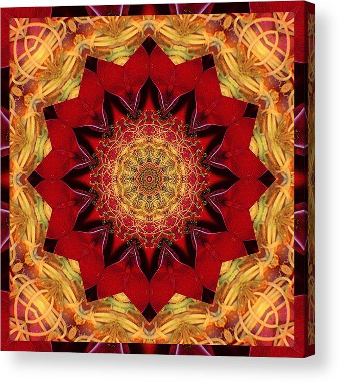 Mandalas Acrylic Print featuring the photograph Healing Mandala 28 by Bell And Todd