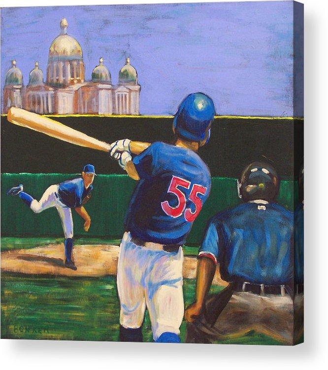 Iowa Acrylic Print featuring the painting Home Run by Buffalo Bonker