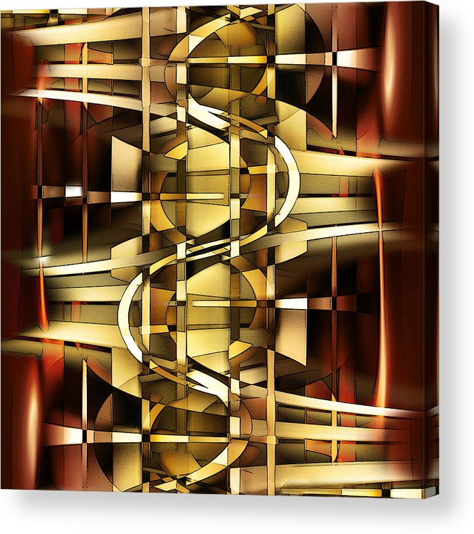 Digital Acrylic Print featuring the digital art I Hate It When The Stairs Are Out Of Order by Andy Young