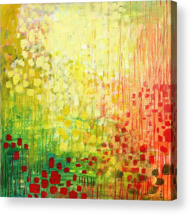 Abstract Acrylic Print featuring the painting Immersed No 2 by Jennifer Lommers