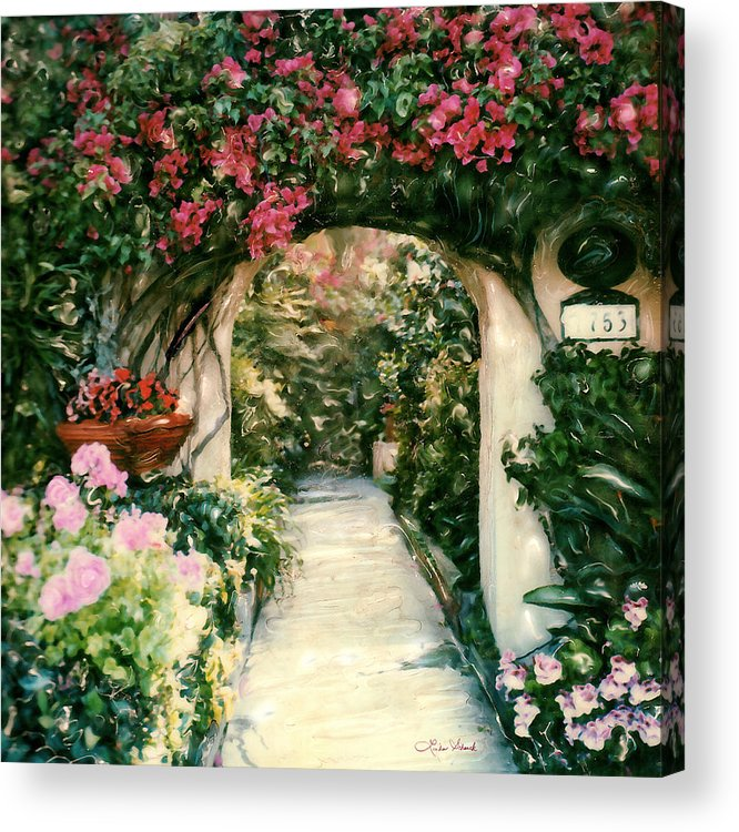 Floral Acrylic Print featuring the photograph La Jolla Bed And Breakfast by Linda Scharck