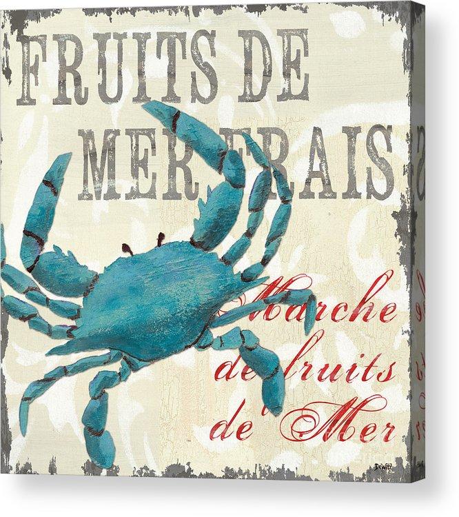 Coastal Acrylic Print featuring the painting La Mer Shellfish 1 by Debbie DeWitt