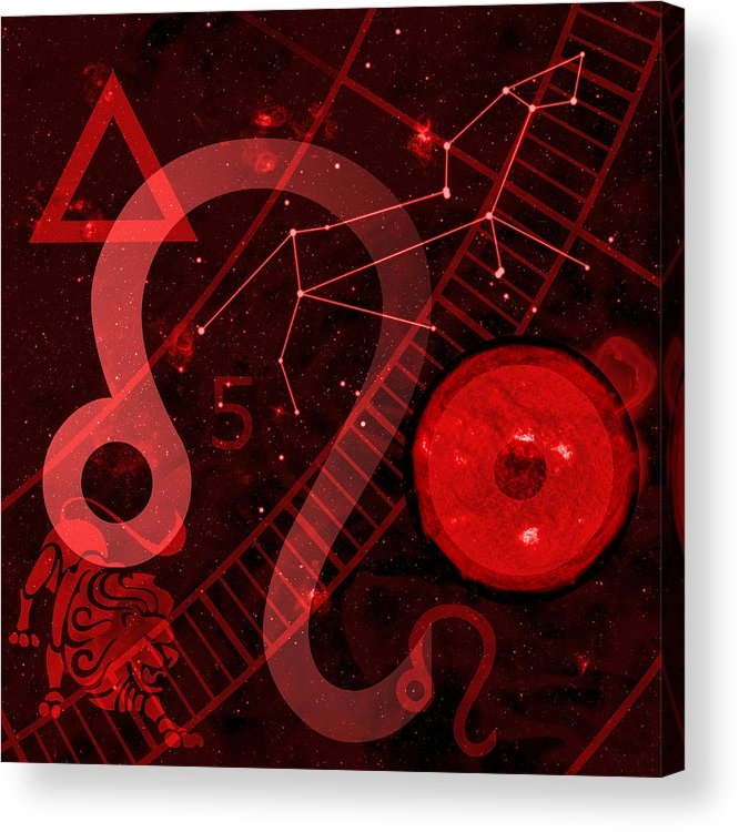 Horoscope Acrylic Print featuring the digital art Leo by JP Rhea