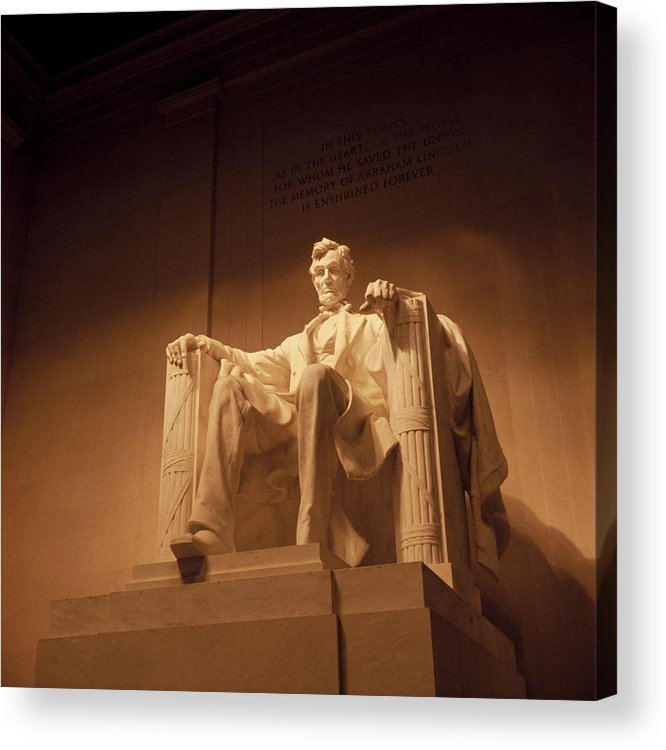 Lincoln Acrylic Print featuring the photograph Lincoln Memorial by Gene Sizemore