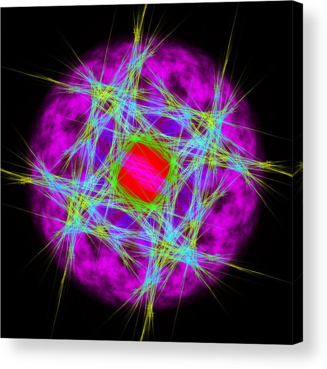 Abstract Acrylic Print featuring the digital art Lispension by Andrew Kotlinski