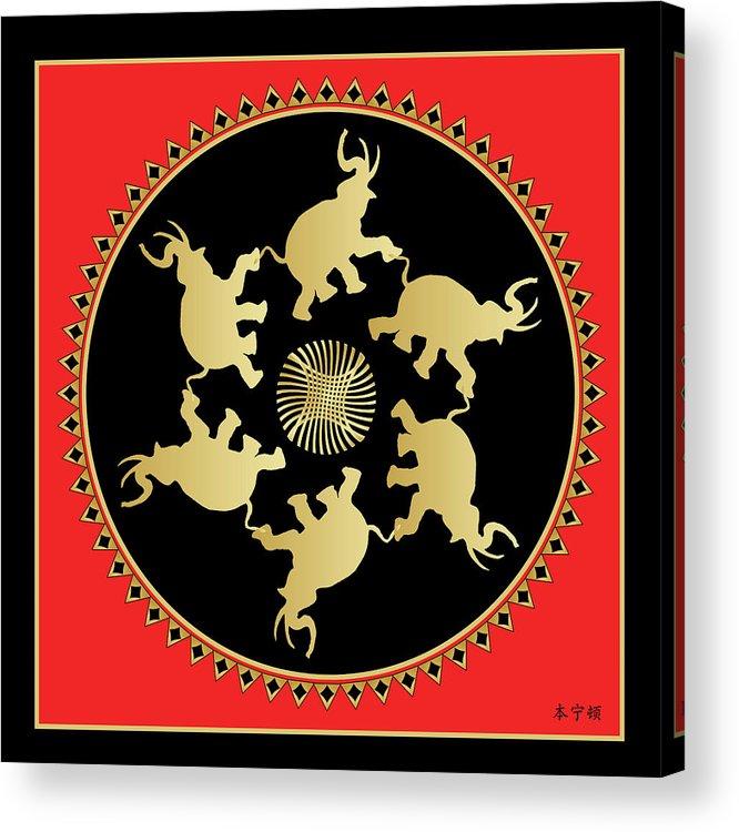 Mandala Acrylic Print featuring the digital art Mandala No 3 by Alan Bennington