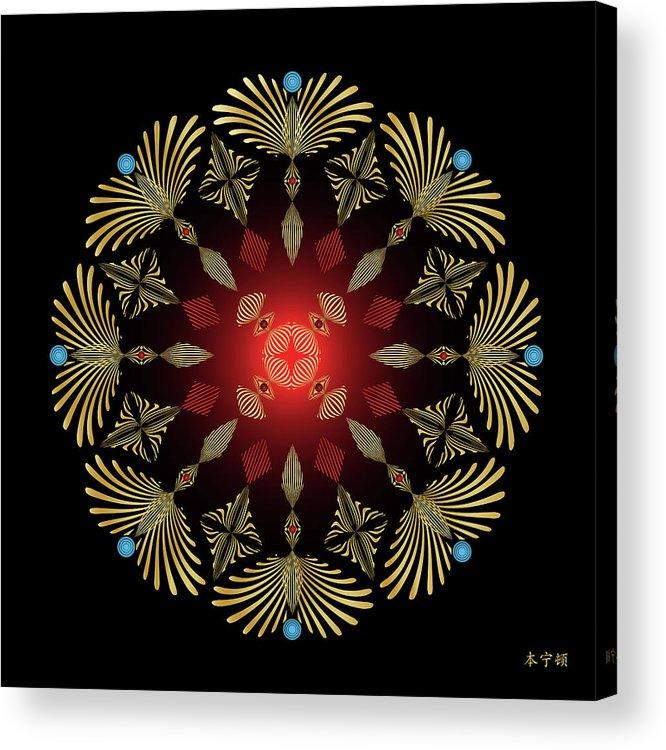 Mandala Acrylic Print featuring the digital art Mandala No. 4 by Alan Bennington