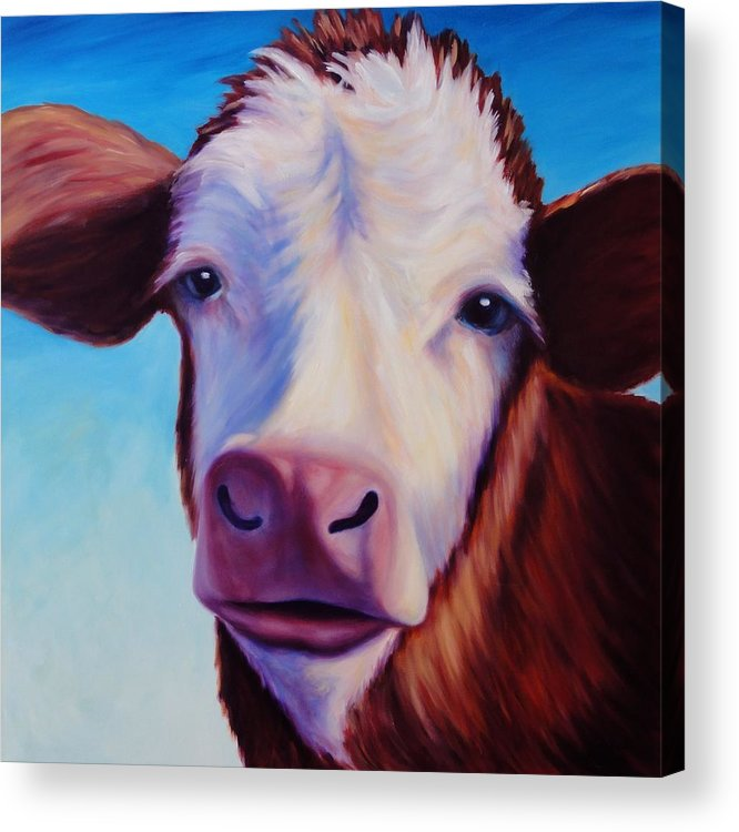 Cow Acrylic Print featuring the painting Marie by Shannon Grissom