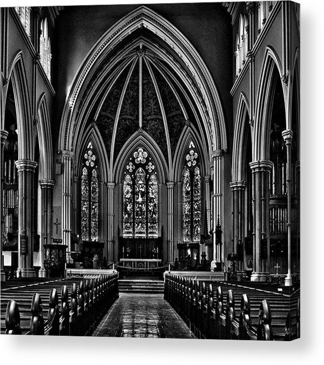 Toptorontophoto Acrylic Print featuring the photograph Metropolitan United Church Interior by Brian Carson