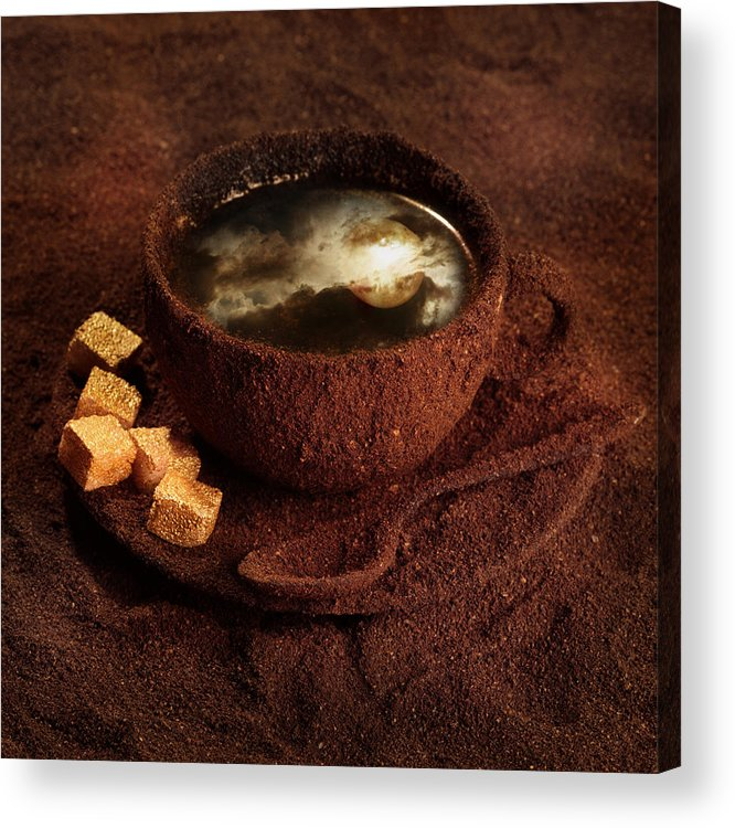 Coffee Acrylic Print featuring the photograph Milky Moonlight by Floriana Barbu